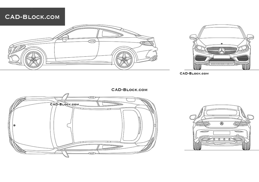 Mercedes-Benz C-Class Coupe - CAD Blocks, AutoCAD file