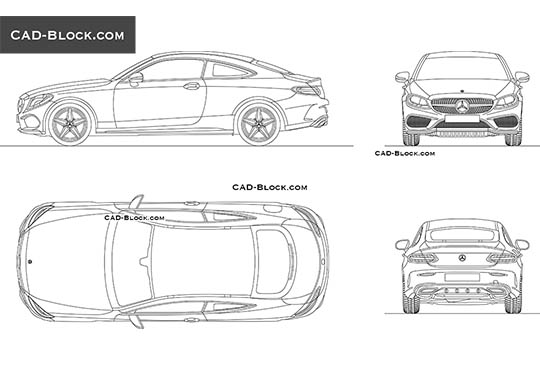 Mercedes-Benz C-Class Coupe buy AutoCAD Blocks