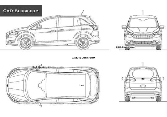 Ford Grand C-Max buy AutoCAD Blocks