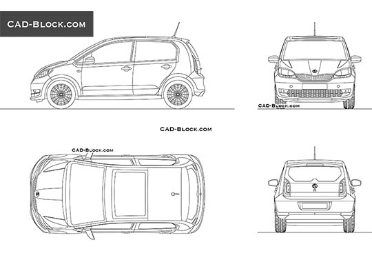 Skoda Citigo buy AutoCAD Blocks