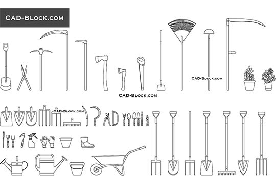 Garden Tools buy AutoCAD Blocks