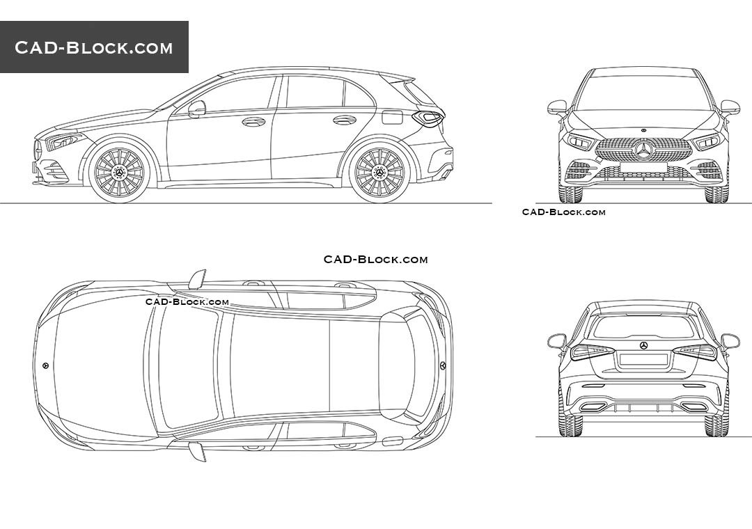 Mercedes-Benz A-Class AMG - CAD Blocks, AutoCAD file
