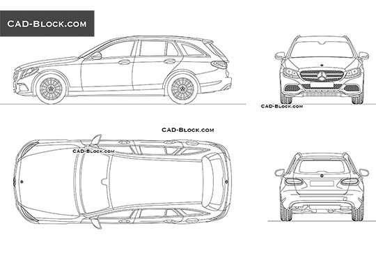 Mercedes-Benz C-Class Wagon buy AutoCAD Blocks