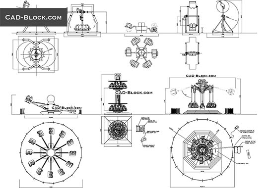Amusement Park Equipment - free CAD file