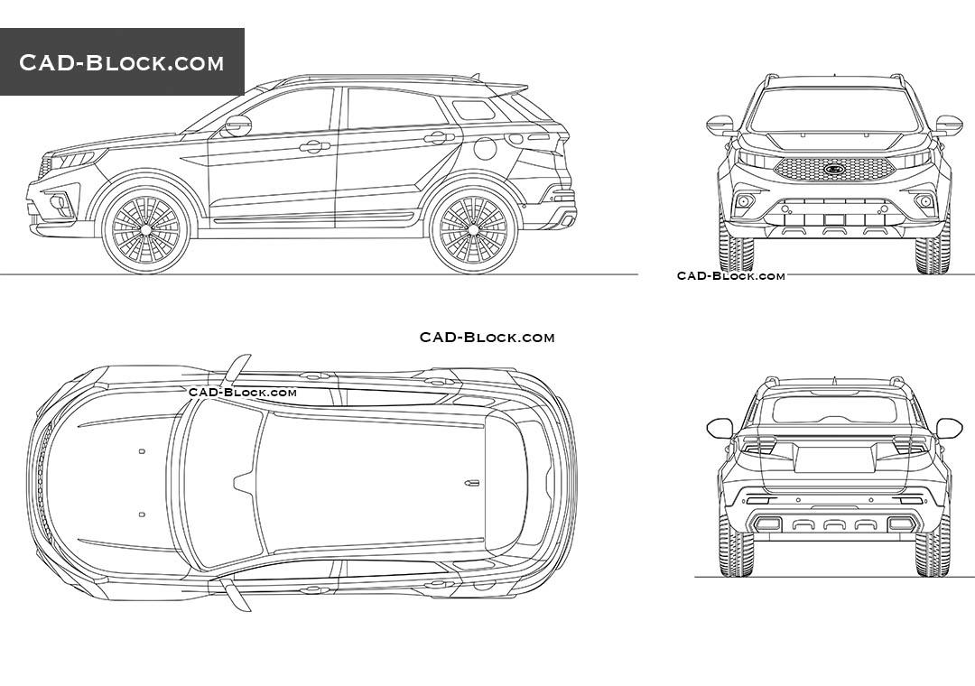 Ford Territory - CAD Blocks, AutoCAD file