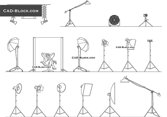 Photography Studio Equipment - free CAD file