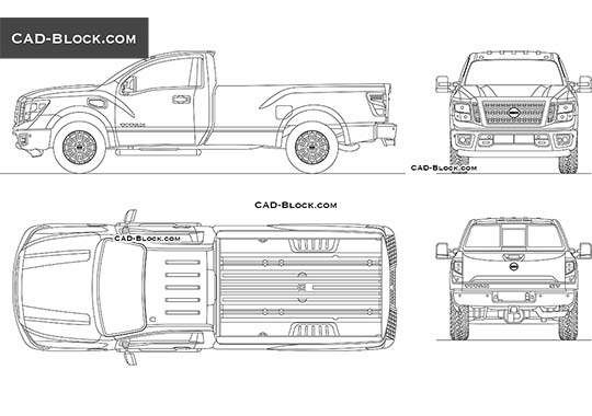 Nissan Titan Single Cab - free CAD file