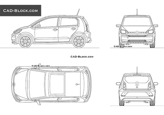 Volkswagen e-Up buy AutoCAD Blocks