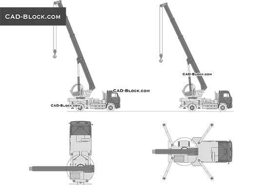 Mobile Crane Dynamic blocks - free CAD file
