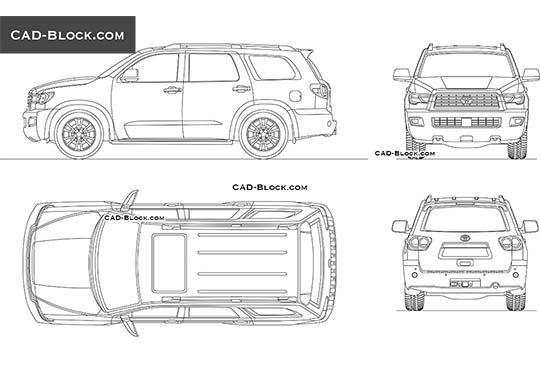 Toyota Sequoia TRD Sport buy AutoCAD Blocks