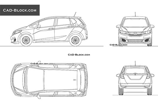 Honda Fit buy AutoCAD Blocks