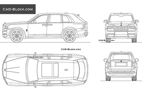 Rolls-Royce Cullinan - download free CAD Block