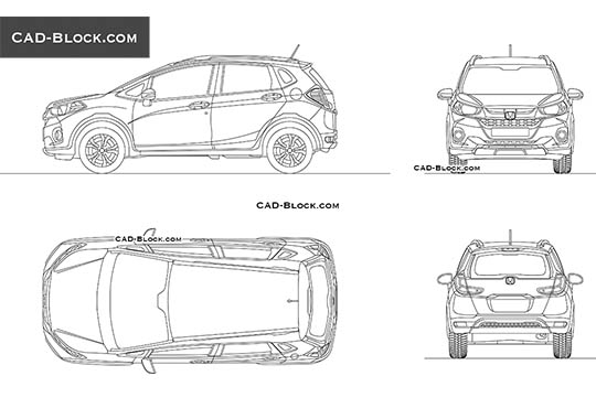 Honda WR-V - download free CAD Block
