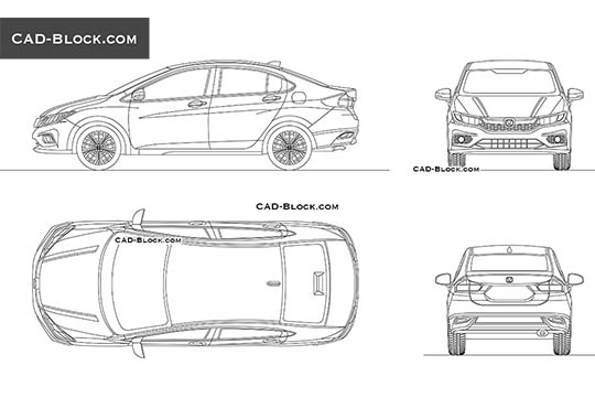 Honda City - download free CAD Block