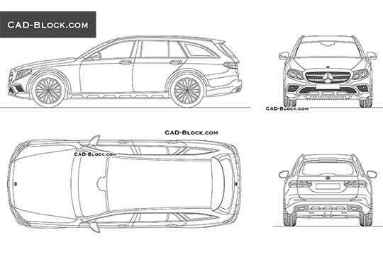 Mercedes-Benz Е-Class All Terrain buy AutoCAD Blocks