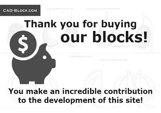Thank you for buying our blocks! - download free CAD Block