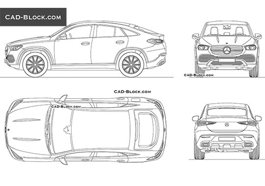 Mercedes-Benz GLE Coupe (2019) - download free CAD Block