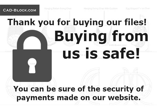Buying from us is safe! - download free CAD Block