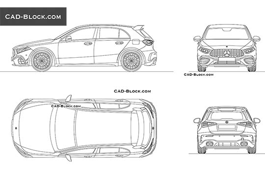 Mercedes-Benz A45 AMG buy AutoCAD Blocks