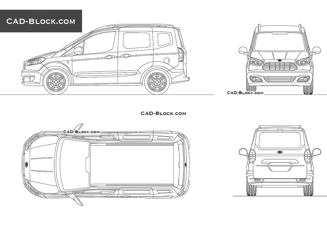 Ford Transit Courier - CAD Blocks, AutoCAD file