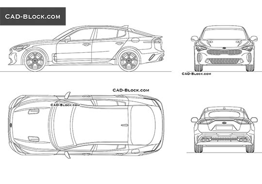 Kia Stinger GT buy AutoCAD Blocks