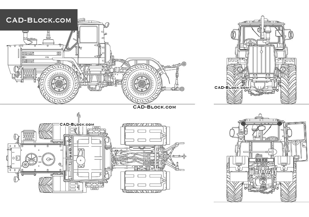 Tractor T150K - CAD Blocks, AutoCAD file