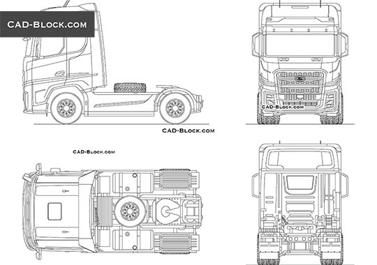 Ford F-Max Tractor Truck - download free CAD Block