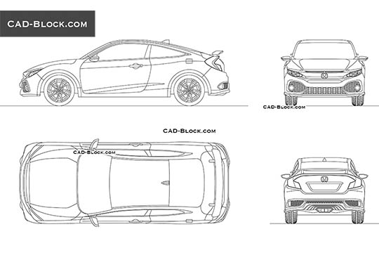 Honda Civic Si buy AutoCAD Blocks