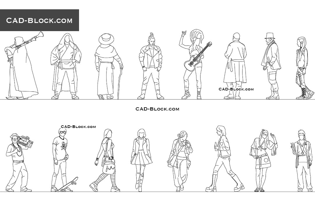 Subcultures People - CAD Blocks, AutoCAD file