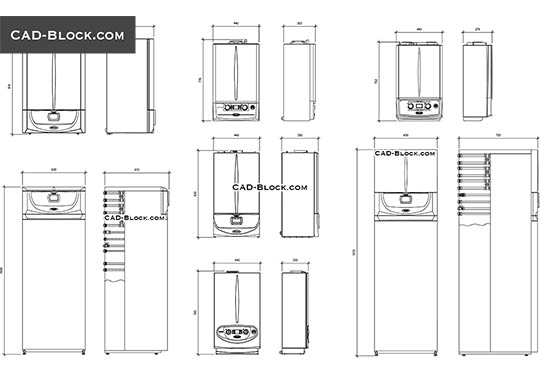 Gas Boiler - download free CAD Block