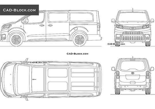 Toyota ProAce Verso - download free CAD Block