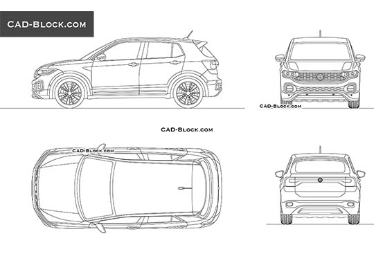 Volkswagen T-Cross buy AutoCAD Blocks