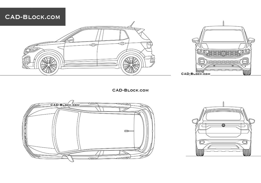 Volkswagen T-Cross - CAD Blocks, AutoCAD file