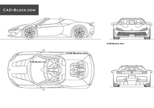Ferrari J50 buy AutoCAD Blocks