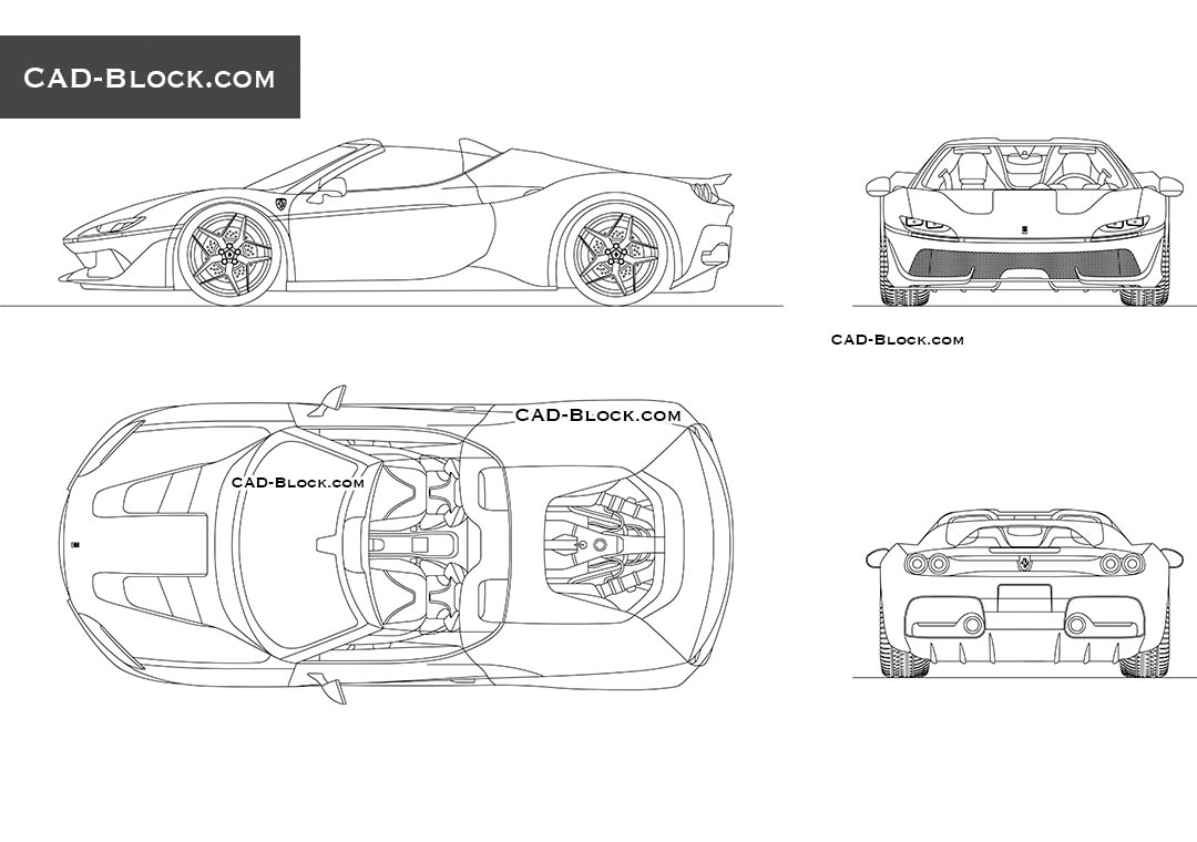 Ferrari J50 - CAD Blocks, AutoCAD file