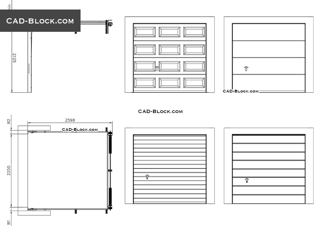 Sectional Garage Door - CAD Blocks, AutoCAD file