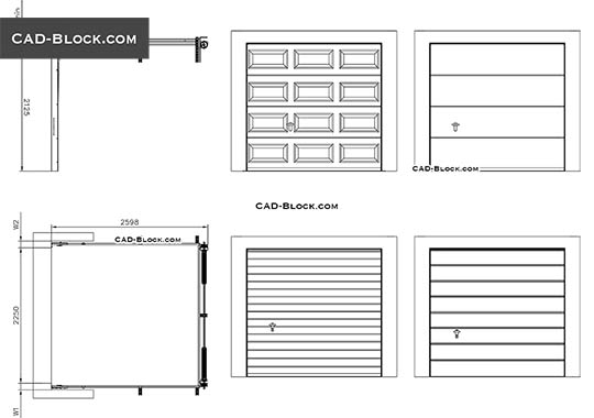 Sectional Garage Door - download free CAD Block