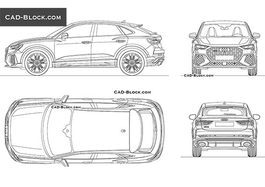 Audi RS Q3 Sportback buy AutoCAD Blocks