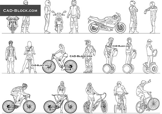 Riders - free CAD file