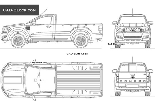 Ford Ranger XL Single Cab buy AutoCAD Blocks