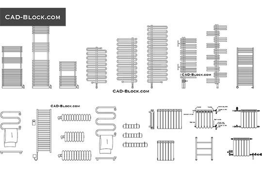 Radiators - download free CAD Block