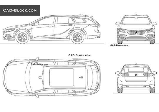 Buick Regal TourX - download free CAD Block