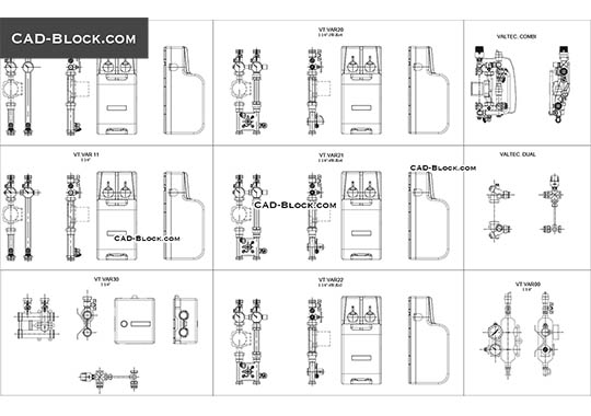 Pumping Mixing Unit - download free CAD Block