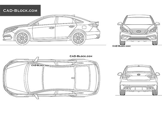 Car Autocad Drawing Free Download