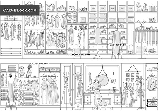 Dressing Room - download free CAD Block