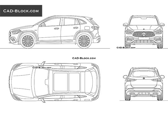 Mercedes-Benz GLA 35 - download free CAD Block