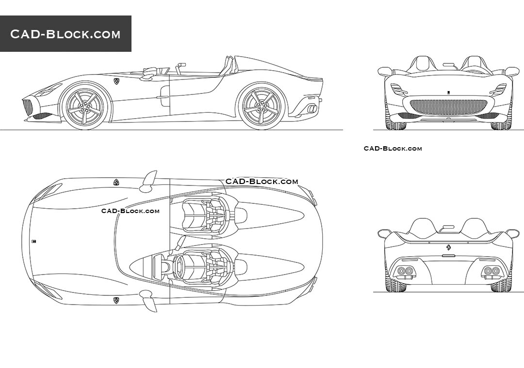 Ferrari Monza SP2 - CAD Blocks, AutoCAD file