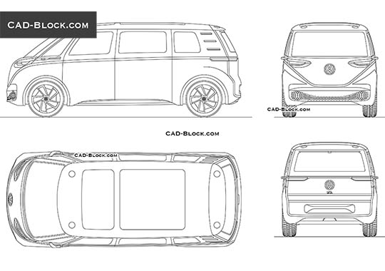 Volkswagen I.D. Buzz Concept buy AutoCAD Blocks