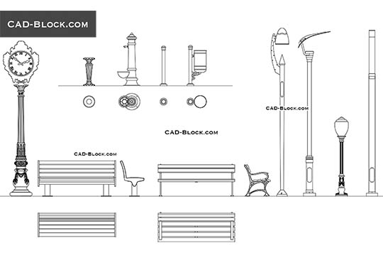 Urban Design Elements - download free CAD Block