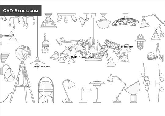 Lighting Collection - free CAD file